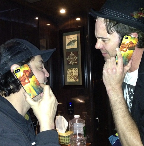 G Love with his Jay Alders surf art iphone case