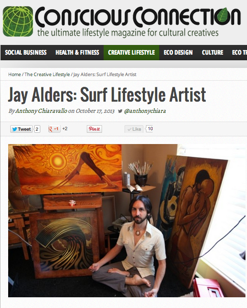 Artist Interview with Jay Alders in Conscious Connection Magazine