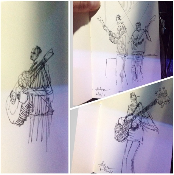 Sketches of Dave Matthews Band by Jay Alders