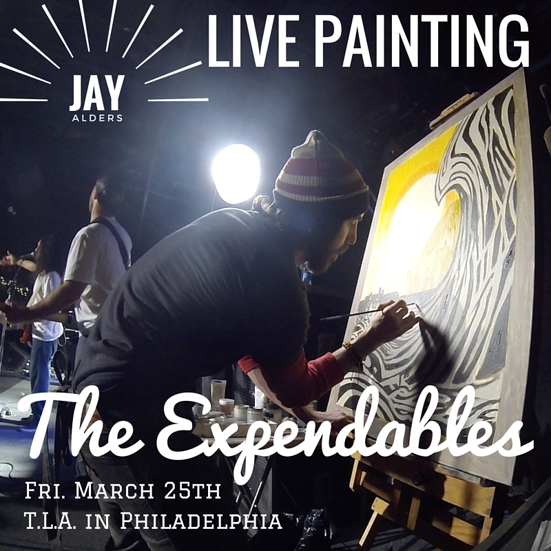 expendables live painting jay alders