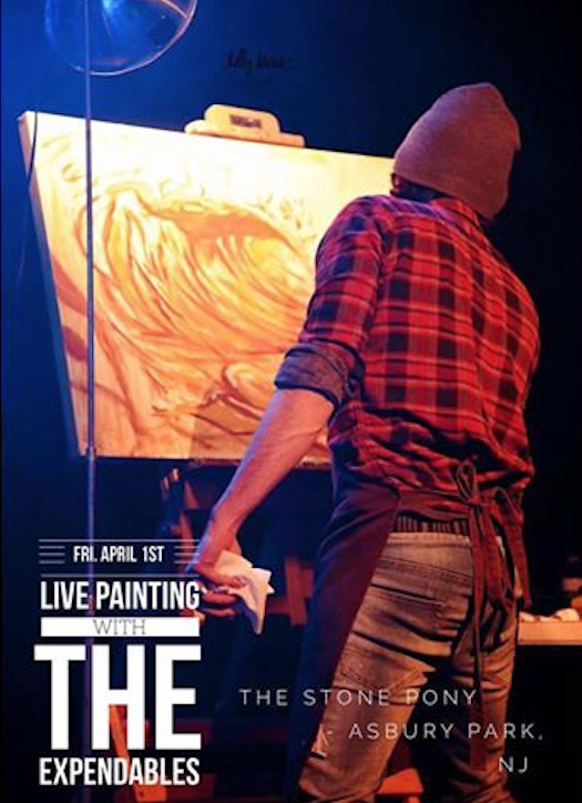 Live Painting with The Expendables and Jay Alders, Artist at Asbury Park's Stone Pony