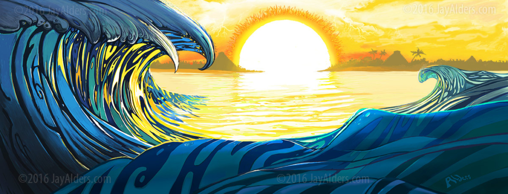 closer to the sun - slightly stoopid surf art 2016 - artist jay alders