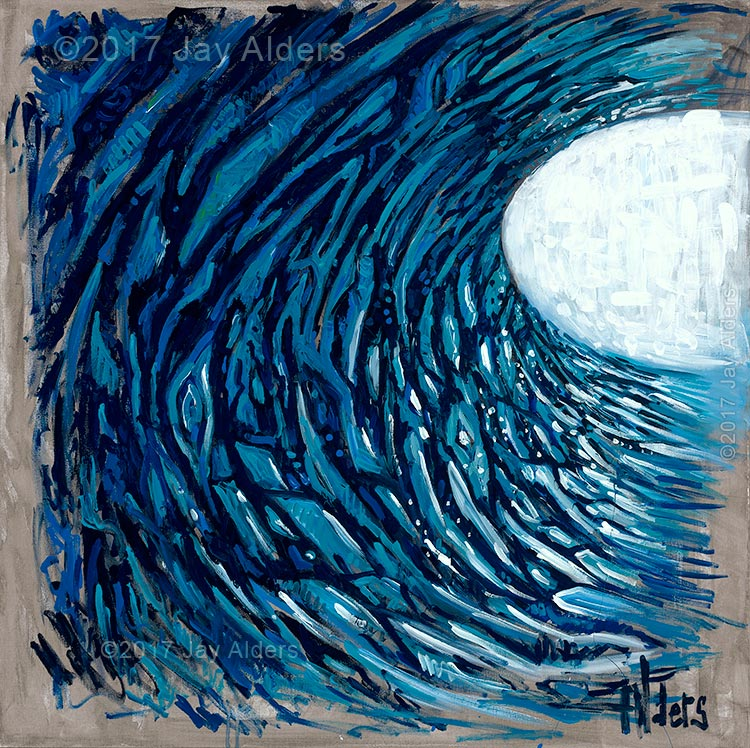Double Scoop - Ocean Surf Live Painting by Jay Alders