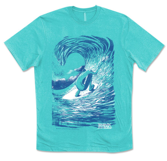 Moment of Momentum Surf Art T Shirt by Jay Alders