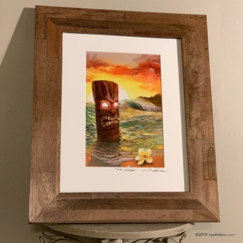 Tiki Beach Sunrise Art Print in Frame by Jay Alders