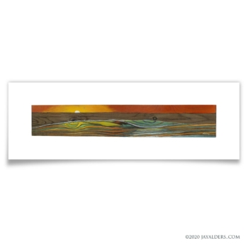 Beach #71520 - Modern seascape ocean painting
